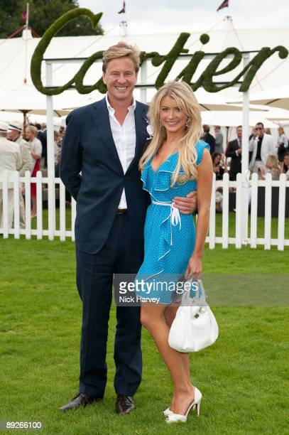 Robert Hersov and Dr Katie James at the Cartier tent during the Cartier Internaional Polo Day at Guards Polo Club on July 26 2009 in Egham England