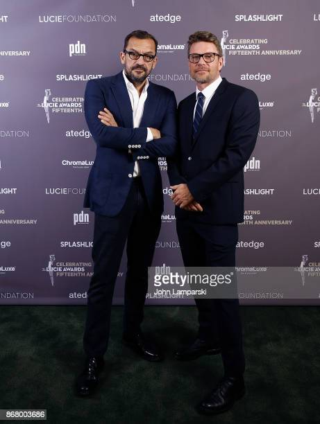 Robert Heydaert and Bart Heynen attend the 15th Annual Lucie Awards at Carnegie Hall on October 29 2017 in New York City