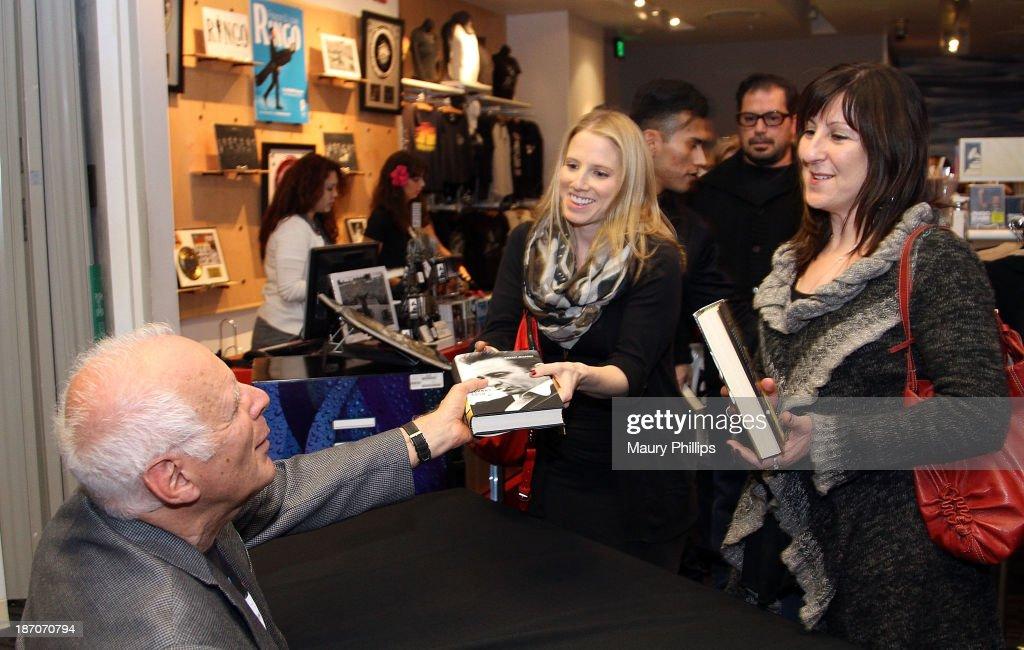 Robert Hilburn Signs Copies Of His Book Johnny Cash The Life At