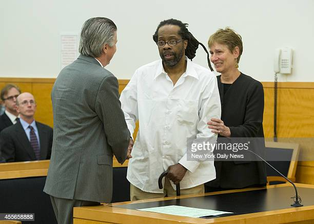 Robert Hill appears in Supreme Court Justice Neil J Firetog's courtroom with attorneys Harold Ferguson and Sharon Katz Three half brothers were...