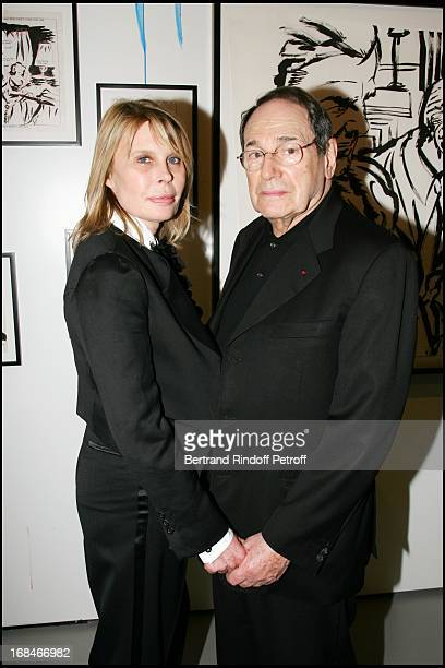 Robert Hossein and Candice Patou at Private Viewing Of The Exhibition Where Are We Going In Venice