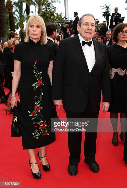Robert Hossein and Candice Patou attend 'Inside Llewyn Davis' Premiere during the 66th Annual Cannes Film Festival at Palais des Festivals on May 19...
