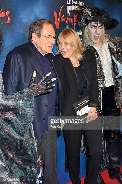 Robert Hossein and Candice Patou attend 'Le Bal Des Vampires' Premiere At Theatre Mogador on October 16 2014 in Paris France