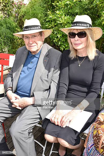 Robert Hossein and Candice Patou attend the Franck Sorbier Haute Couture Fall/Winter 20162017 show as part of Paris Fashion Week on July 6 2016 in...