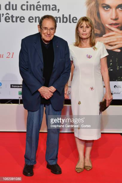 Robert Hossein and Candice Patou attend the opening ceremony during the 10th Film Festival Lumiere on October 13 2018 in Lyon France