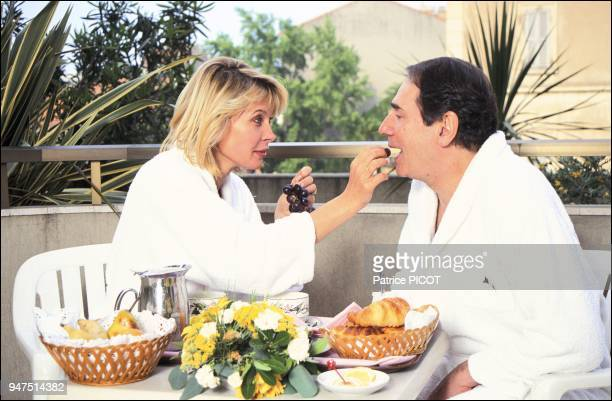 Robert Hossein and Candice Patou, Cannes 92.