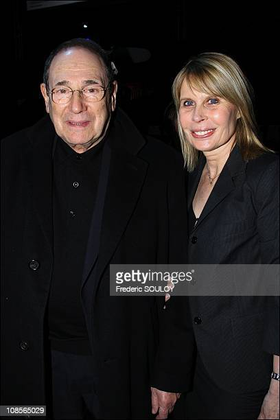 Robert Hossein and Candice Patou in Paris France on March 25 2007