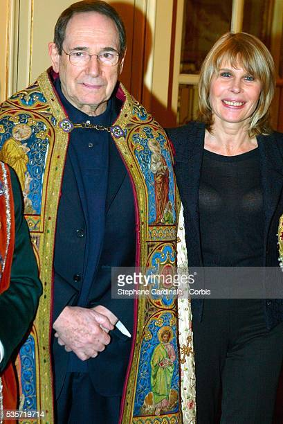 Robert Hossein and Candice Patou