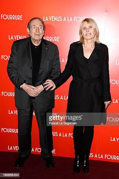 Robert Hossein and his wife Candice Patou attend 'La Venus A La Fourrure Venus In Fur' Premiere at Cinema Gaumont Marignan on November 4 2013 in...