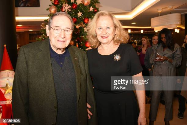 Robert Hossein and Katia Tchenko attend 'Heros en Mer' Patrick and Olivier Poivre d'Arvor Book Signing at Hotel Courtyard Mariott Boulogne...