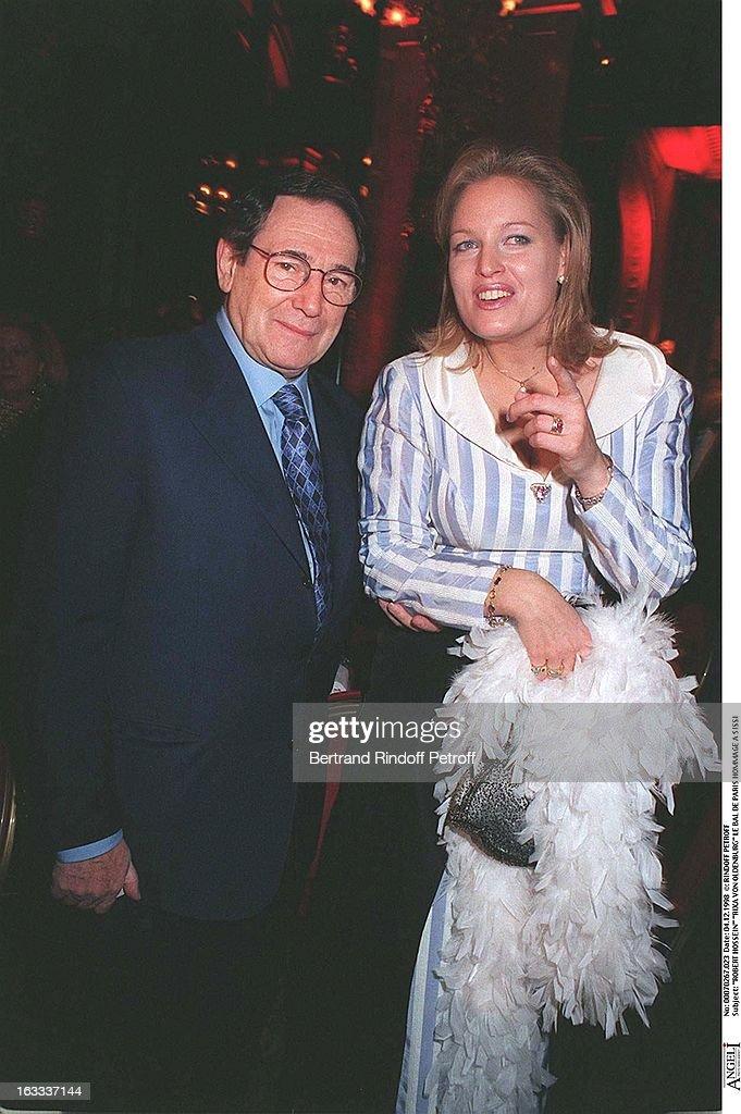 Robert Hossein and Rixa Von Oldenburg at The Bal De Paris