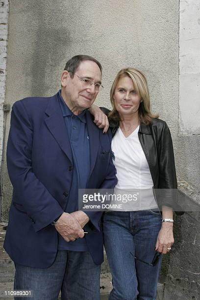 Robert Hossein and wife Candice Patou at Festival Music and Cinema in Auxerre France on October 15th 2005