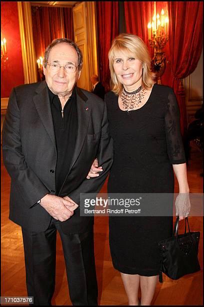 Robert Hossein and wife Candice Patou at The Association Adicare Gala Dinner Held At The Salon De L'Horloge Du Palais Des Affaires Etrangeres