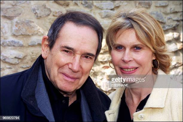 Robert Hossein and wife Candice Patou.
