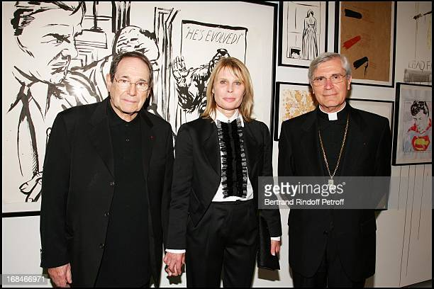 Robert Hossein Candice Patou and Bishop Di Falco at Private Viewing Of The Exhibition Where Are We Going In Venice
