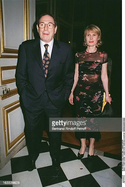 Robert Hossein Candice Patou at theOpening Evening Of Temps Du Maroc In Paris1999