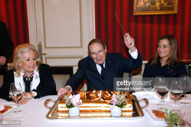 Robert Hossein celebrates his 90th Anniversary at 'Laurent Restaurant' on January 8 2018 in Paris France