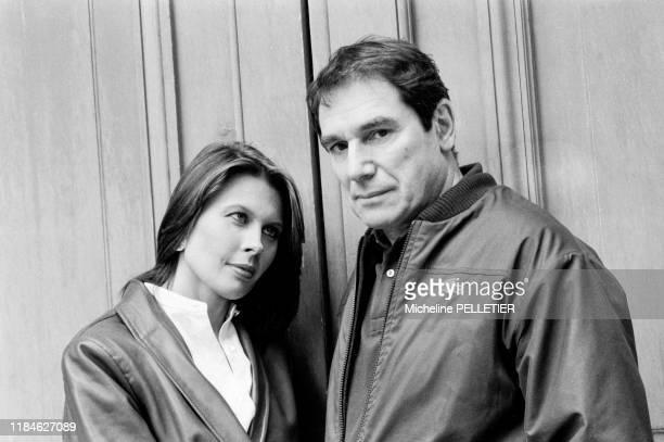 Robert Hossein et son épouse Candice Patou le 18 octobre 1982 à Paris, France.