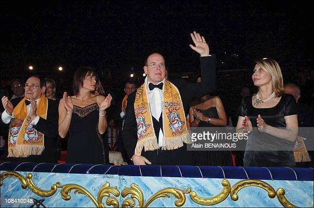Robert Hossein Princess Stephanie of Monaco Prince Albert of Monaco and Candice Patou in Monaco on January 24 2006