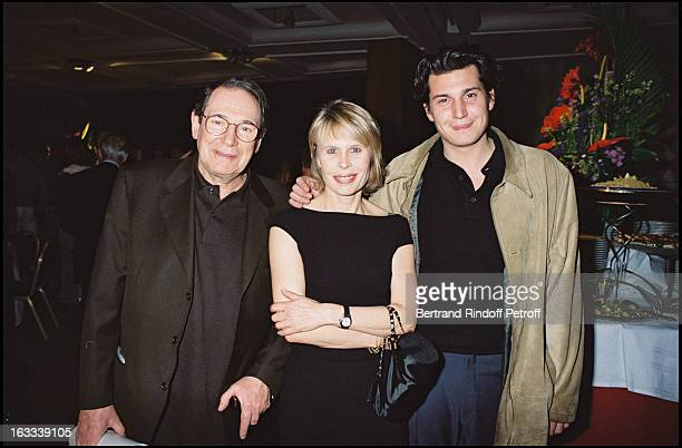 Robert Hossein with wife Candice Patou and child at theFinal Performance Of Celui Qui Dit Non At Palais Des Congres In Paris