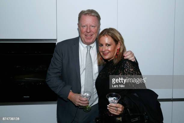 Robert Hughes and Alicia Galitzin attend the Blu Perfer Blue Brut Launch Party for The 2018 8th annual Better World Awards on November 15 2017 in New...