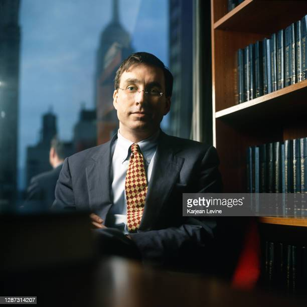 Robert Hughes, Director of New Visions For Public Schools, poses for a portrait in his office on June 17, 2000 in New York City, New York.