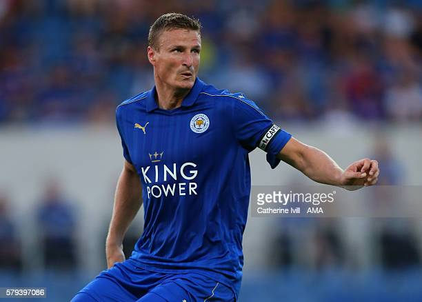 Robert Huth of Leicester City during the PreSeason Friendly match between Oxford United and Leicester City at Kassam Stadium on July 19 2016 in...