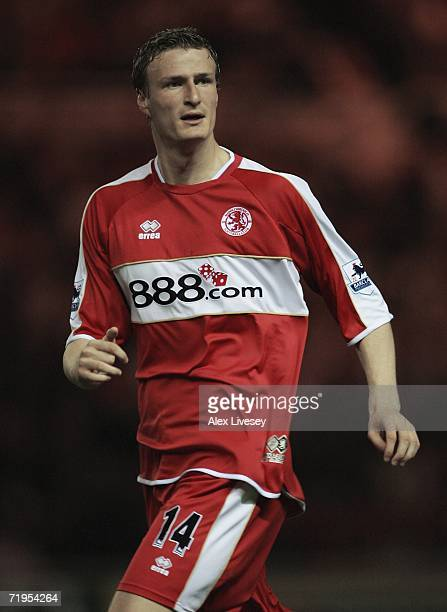 Robert Huth of Middlesbrough during the Carling Cup second round match between Middlesbrough and Notts County at the Riverside Stadium on September...