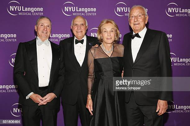 Robert I Grossman Ken Langone Elaine Langone and honoree Paolo Fresco attend NYU Langone Medical Center's 2016 Violet Ball at the Metropolitan Museum...