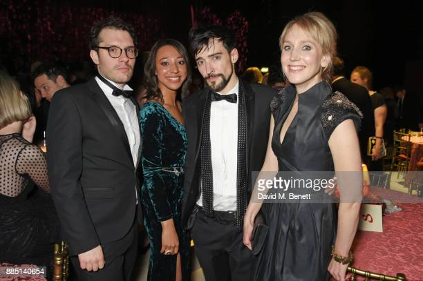 Robert Icke guest Blake Ritson and Hattie Morahan attend the London Evening Standard Theatre Awards 2017 after party at the Theatre Royal Drury Lane...