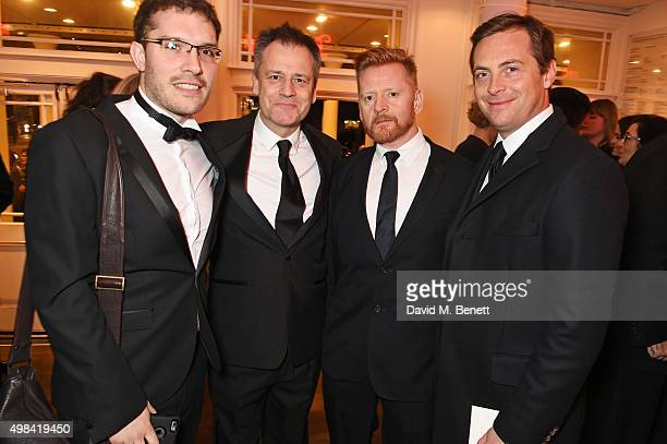 Robert Icke Michael Grandage Christopher Oram and Stephen Campbell Moore attend a champagne reception ahead of The London Evening Standard Theatre...