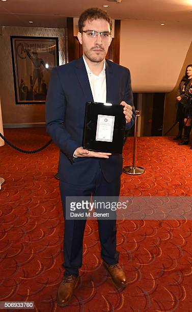 Robert Icke winner of Best Director Director for Oresteia during The Critics' Circle Theatre Awards at Prince Of Wales Theatre on January 26 2016 in...