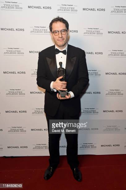 Robert Icke winner of the Milton Shulman Award for Best Director for 'The Doctor' poses in the winners room at the 65th Evening Standard Theatre...