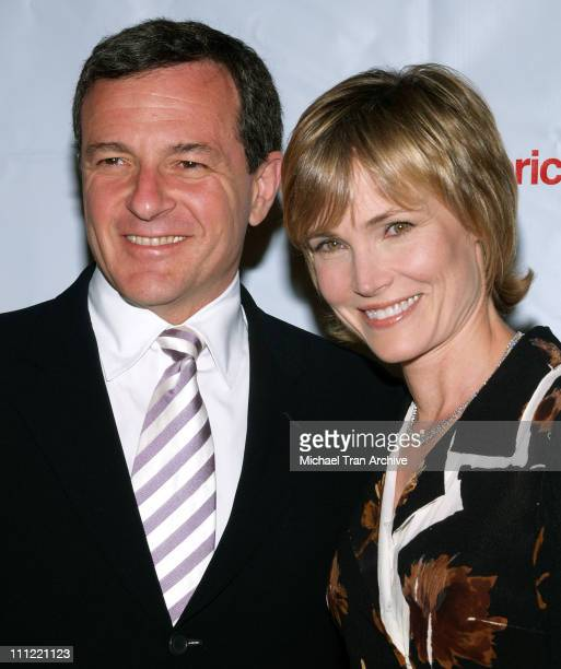 Robert Iger and wife Willow Bay during Jonsson Cancer Center Benefit at Regent Beverly Wilshire in Beverly Hills California United States