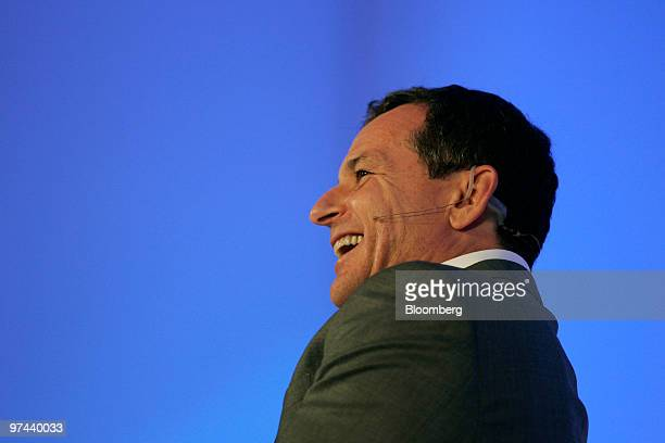 Robert Iger, president and chief executive officer of Walt Disney Co., speaks at the ECO:nomics Creating Environmental Capital conference in Santa...