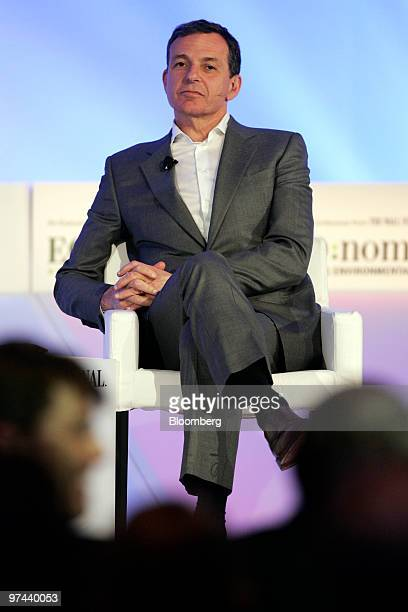 Robert Iger, president and chief executive officer of Walt Disney Co., listens during the ECO:nomics Creating Environmental Capital conference in...