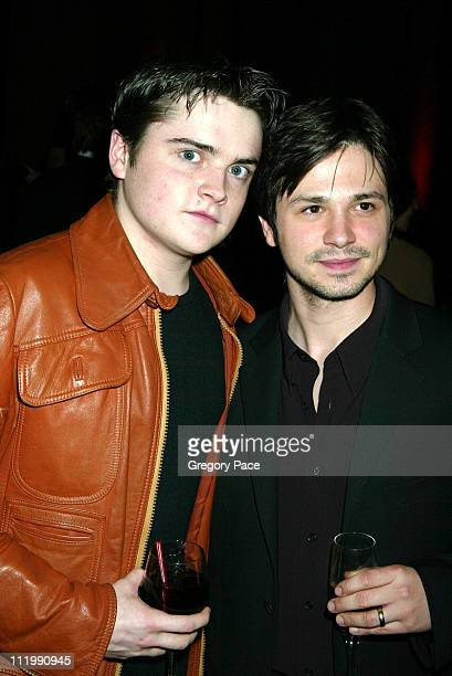Robert Iler and Freddy Rodriguez during HBO's Six Feet Under Third Season World Premiere After Party at Capitale in New York City New York United...