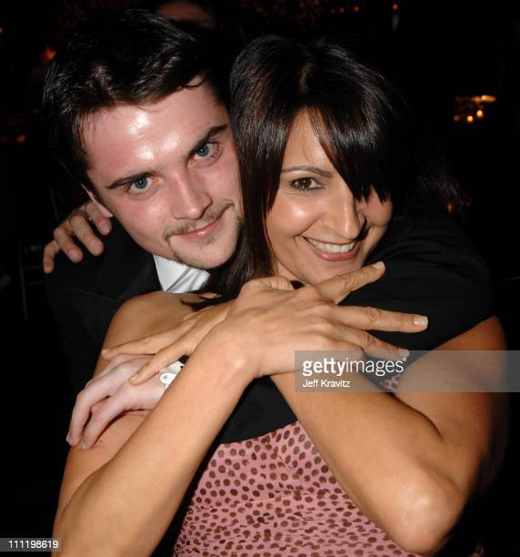 Robert Iler and Kathrine Narducci during HBO Hosts a Screen Actors Guild Awards After Party at Spago in Beverly Hills California United States
