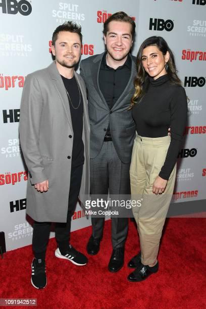Robert Iler Michael Gandolfini and JamieLynn Sigler attend the The Sopranos 20th Anniversary Panel Discussion at SVA Theater on January 09 2019 in...