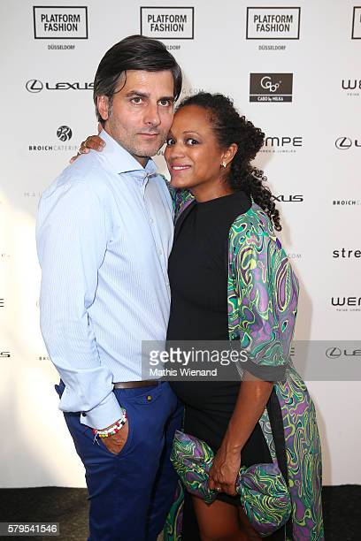 Robert Irschara and Milka Loff Fernandes attend the Platform Fashion Selected show during Platform Fashion July 2016 at Areal Boehler on July 24 2016...