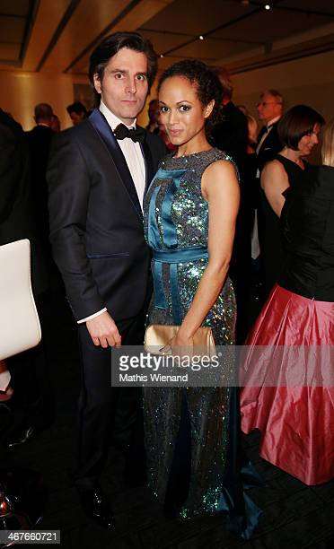 Robert Irschara and Milka Loff Fernandes attend the Semper Opera Ball at Semperoper on February 7 2014 in Dresden Germany