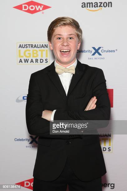 Robert Irwin attends the Australian LGBTI Awards at The Star on March 2 2018 in Sydney Australia