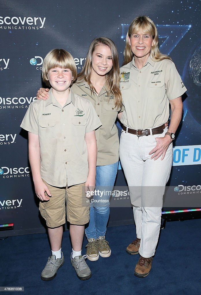 Robert Irwin, Bindi Irwin and Terri Irwin attend the Discovery Communications 30th Anniversary Celebration at Paley Center For Media on June 24, 2015 in New York City.