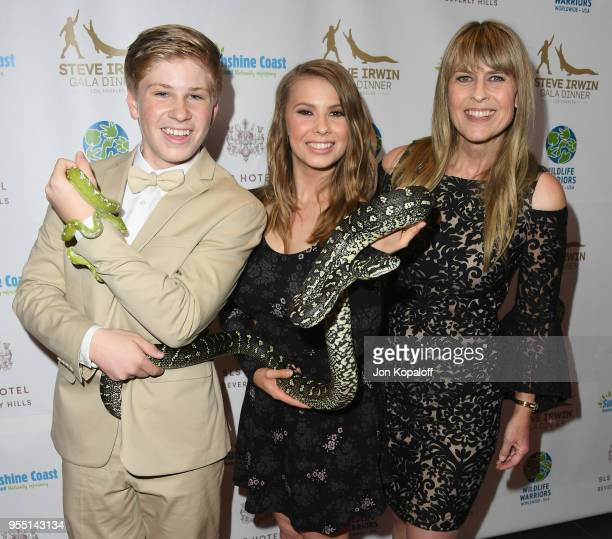 Robert Irwin Bindi Irwin and Terri Irwin attend the Steve Irwin Gala Dinner 2018 at SLS Hotel on May 5 2018 in Beverly Hills California