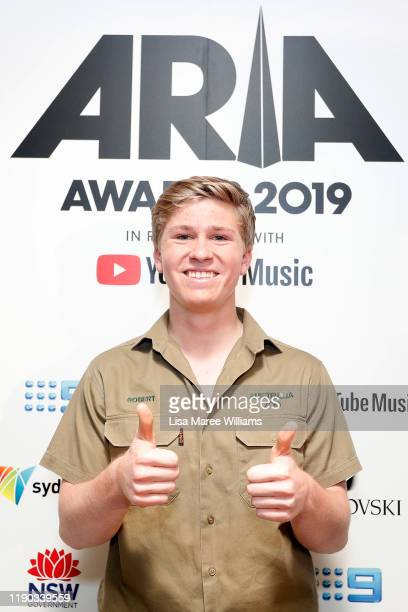 Robert Irwin poses in the awards room during the 33rd Annual ARIA Awards 2019 at The Star on November 27 2019 in Sydney Australia