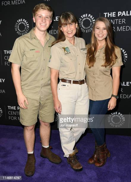 Robert Irwin Terri Irwin and Bindi Irwin attend The Paley Center For Media Presents An Evening With The Irwins Crikey It's The Irwins Screening And...
