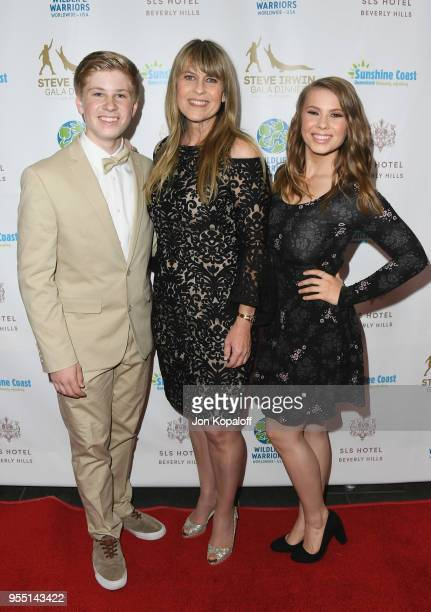 Robert Irwin Terri Irwin and Bindi Irwin attend the Steve Irwin Gala Dinner 2018 at SLS Hotel on May 5 2018 in Beverly Hills California