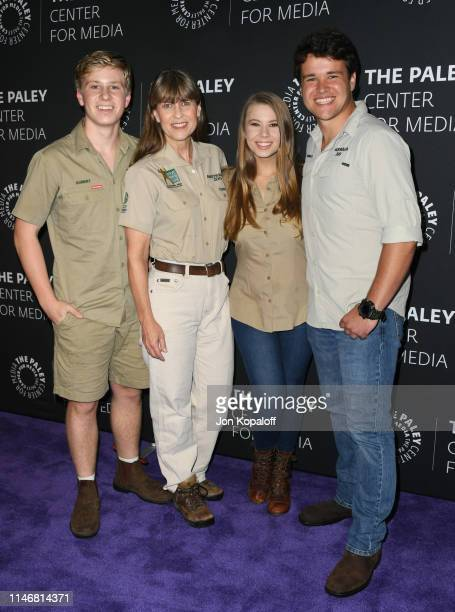 """Robert Irwin, Terri Irwin, Bindi Irwin and Chandler Powell attend The Paley Center For Media Presents: An Evening With The Irwins: """"Crikey! It's The..."""