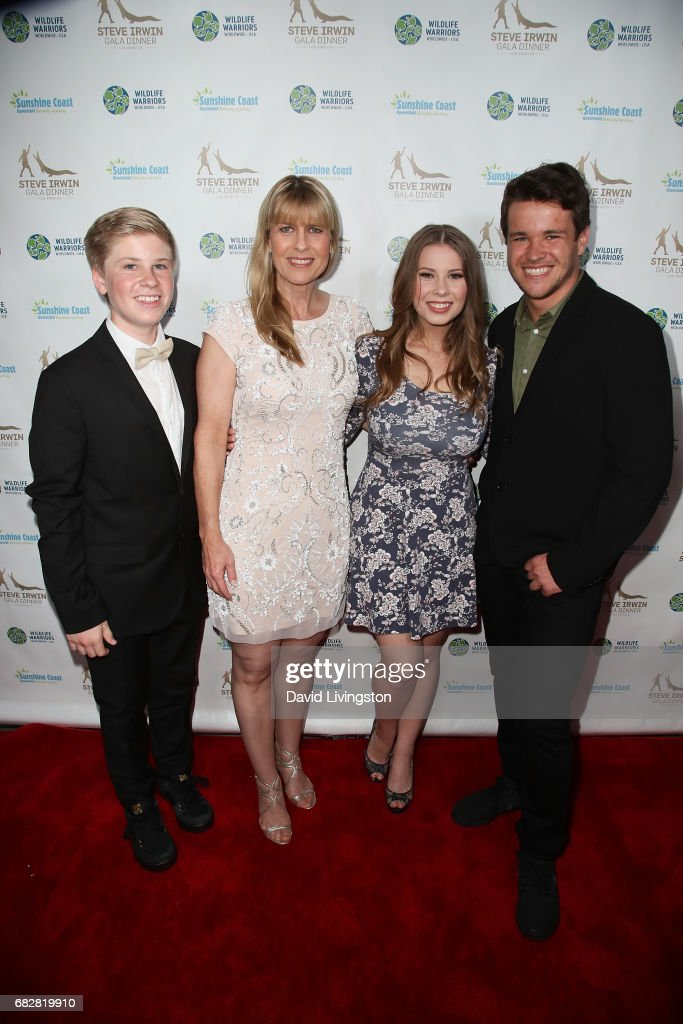 Robert Irwin, Terri Irwin, Bindi Irwin and Chandler Powell attend the Steve Irwin Gala Dinner at the SLS Hotel at Beverly Hills on May 13, 2017 in Los Angeles, California.