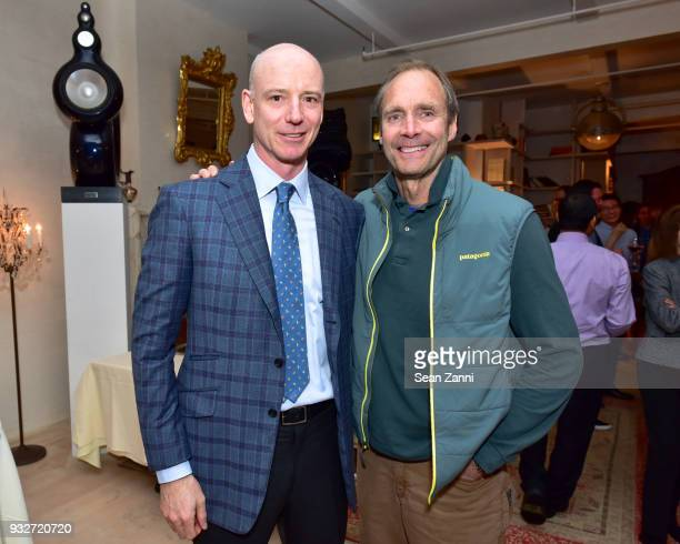 Robert James and Owen Tunney attend 'The Initiation' Book Launch at Bouley TK on March 15 2018 in New York City